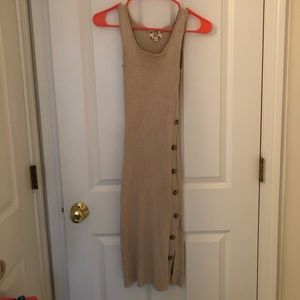 Form Fitting Cream Colored Dress